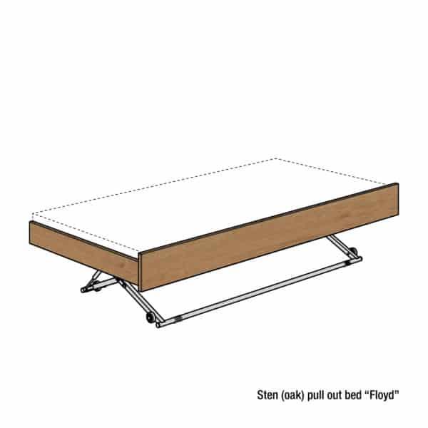 Sten single bed (oak)
