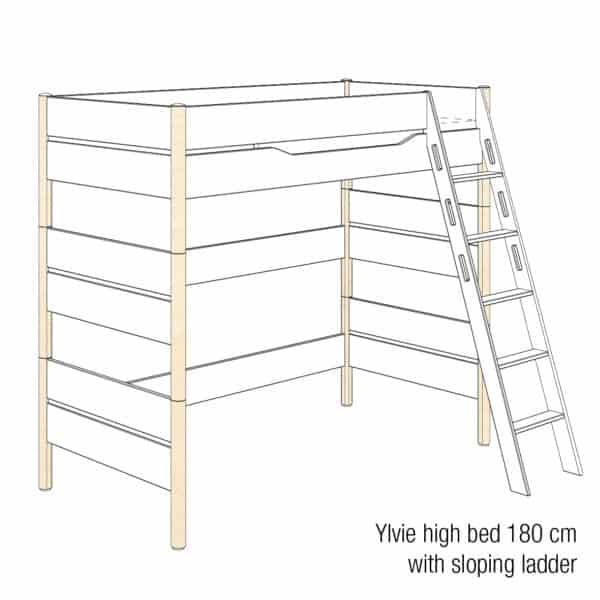 Ylvie high bed 180cm