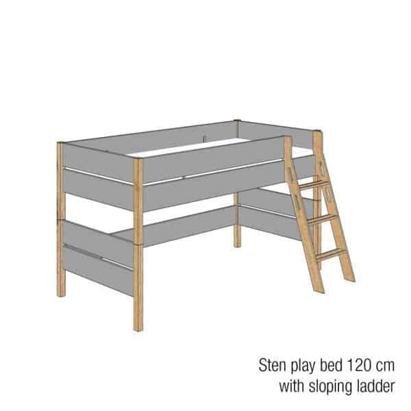 Sten play bed 120cm (Trendy grey)