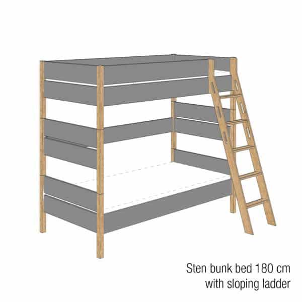 Sten bunk bed 180cm (Trendy grey)