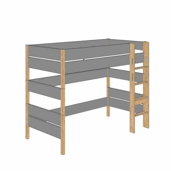 Sten play bed 160cm (Trendy grey)