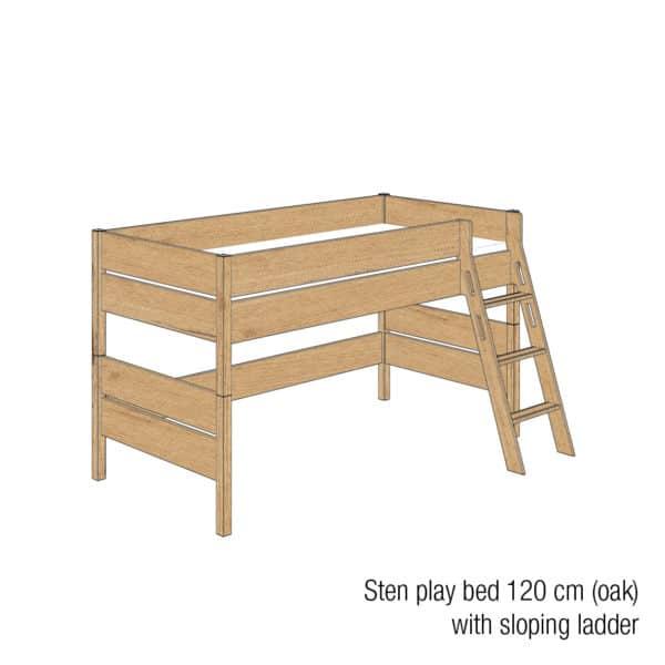 Sten play bed 120cm (Oak)