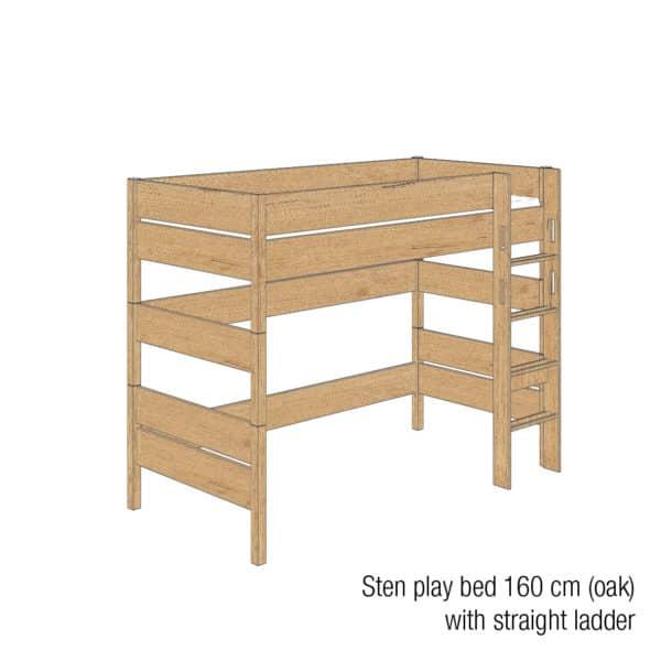 Sten play bed 160cm (Oak)