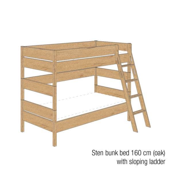 Sten bunk bed 160cm (Oak)