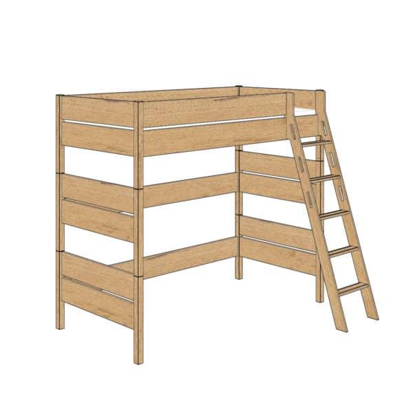 Sten high bed 180cm (Oak)