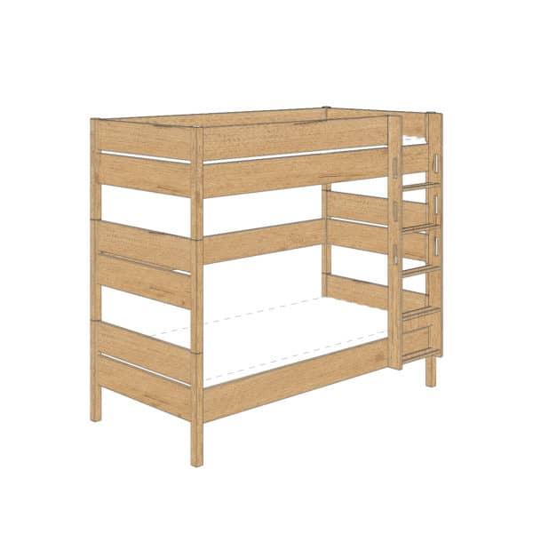 Sten bunk bed 180cm (Oak)