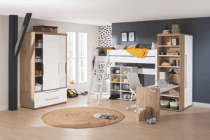 Tiago Play Bed 160cm high with slanting grip ladder